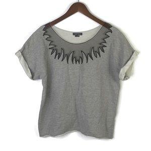 Gryphon New York Lace Inlet Sweatshirt | S
